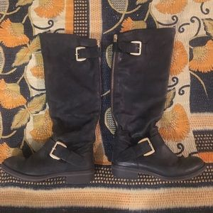 Steve Madden Black Leather Lawrence Boots